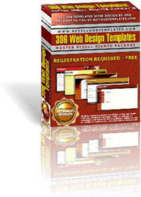 Product picture 306 WEB DESIGN TEMPLATES MASTER RESELL RIGHTS PACKAGE!