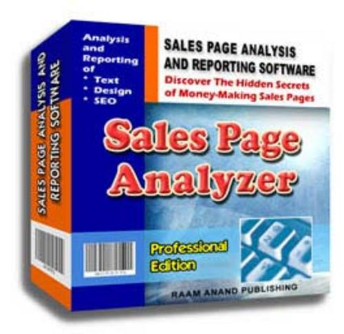 Product picture Sales Page Analyzer Professional Edition Software